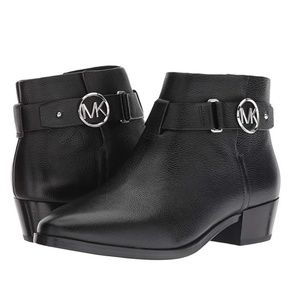 Michael Kors Harland Black Leather Bootie